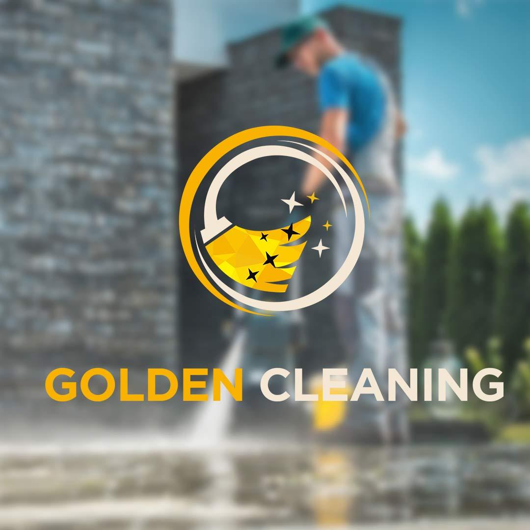 Golden Cleaning | DesignMyLogo