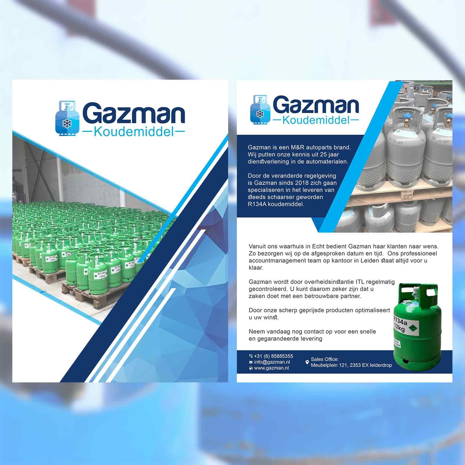 Gazman Flyer | DesignMyLogo
